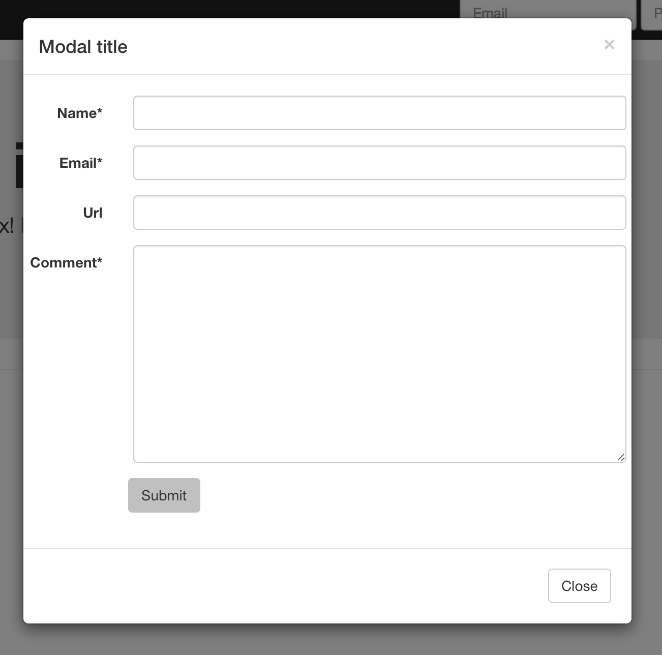 Use djangos class based views with bootstrap modals dmorganfo a typical bootstrap modal dialog box falaconquin
